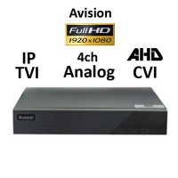DVR AVISION AV204T 5-BRID TVI, AHD, CVI, Analog, IP, 4ch 1080P H265