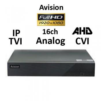 DVR AVISION AV216T 5-BRID TVI, AHD, CVI, Analog, IP, 16ch 1080P H265