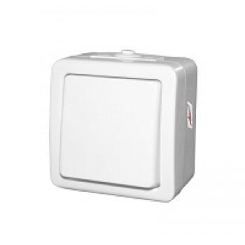Διακόπτης εξωτερικός απλός λευκός IP44 13-20501211 Adeleq