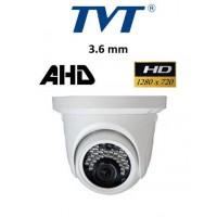Κάμερα TVT 7514ASL AHD 720P 3.6mm λευκή Dome