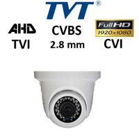 Κάμερα TVT 7524AS/W/2.8mm Switch TVI / AHD / CVI / CVBS 1080P IP66 Weatherproof Λευκή Dome