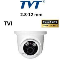 Κάμερα TVT 7525TE 1080P TVI 2.8-12mm Λευκή Dome