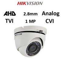 Κάμερα Hikvision DS-2CE56C0T-IRMF AHD / TVI / CVI / Analog 1MP 2.8mm Λευκή Dome