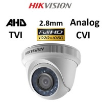 Κάμερα Hikvision DS-2CE56D0T-IRPF AHD / TVI / CVI / Analog 1080P 2.8mm Λευκή Dome
