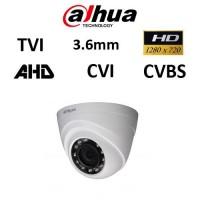Κάμερα Dahua HAC-HDW1000RP-S3 CVI-TVI-AHD-CVBS 720P 3.6mm Dome