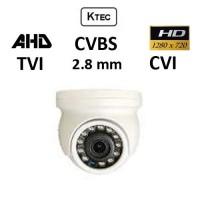 Κάμερα KTEC D100 MINI TVI / AHD / CVI / CVBS 720P 2.8mm Λευκή Dome