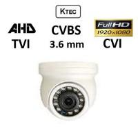 Κάμερα KTEC D200 MINI TVI / AHD / CVI / CVBS 1080P 3.6mm Λευκή Dome