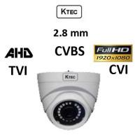 Κάμερα KTEC D200PL AHD/TVI/CVI/CVBS 2.8mm 1080p Dome