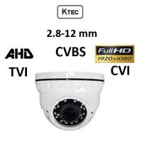 Κάμερα KTEC D200VW AHD / TVI / CVI / CVBS 2.8-12mm 1080P Dome