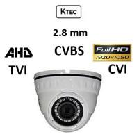 Κάμερα KTEC D200W AHD/TVI/CVI/CVBS 1080P 2.8mm Dome