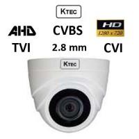Κάμερα KTEC D720PL TVI/AHD/CVI/CVBS 2.8mm Lens πλαστική Dome