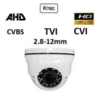 Κάμερα KTEC D720VW TVI / AHD / CVI / CVBS 720P 2.8-12mm Lens Dome