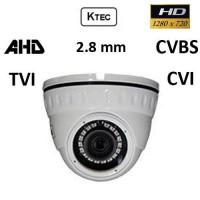 Κάμερα KTEC D720W TVI, AHD, CVI, CVBS 720P 2.8mm Λευκή Dome