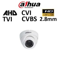 Κάμερα Dahua HAC-HDW1000M-S3, CVI, TVI, AHD, CVBS, 720P, 2.8mm, Dome