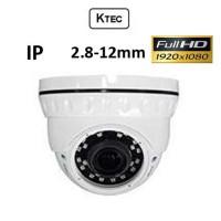 Κάμερα KTEC IP-200 1080P 2.8-12mm Λευκή Dome
