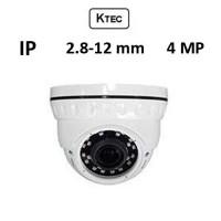 Κάμερα KTEC IP-D400 4MP 2.8-12mm Λευκή Dome