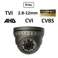 Κάμερα KTEC D200VG, TVI, AHD, CVI, CVBS, 1080P, 2.8-12mm Γκρι Dome