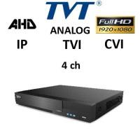 DVR TVT 2704TS-C - NEW - AHD, TVI, CVI, Analog, IP 4CH 1080P