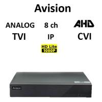 DVR AVISION AV108T 5-BRID TVI, AHD, CVI, Analog, IP, 8ch 1080 Lite