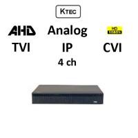 DVR KTEC KT-2004 5-BRID TVI, AHD, CVI, Analog, IP, 4ch 1080N