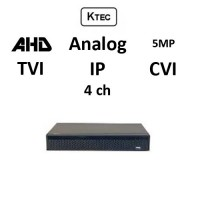 DVR KTEC KT-5004 5-BRID TVI, AHD, CVI, Analog, IP, 4ch 5MP