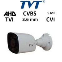 Κάμερα TVT 7451AE/SW 3.6MM TVI/AHD/CVI/CVBS 5MP Λευκή Bullet