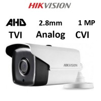 Κάμερα Hikvision DS-2CE16C0T-IT3F AHD / TVI / CVI / Analog 1MP 2.8mm Λευκή Bullet