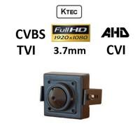 Κάμερα KTEC Pinhall PIN1080P 3.7MM TVI, AHD, CVI, CVBS 1080P