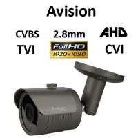 Κάμερα Avision E1080G AHD / TVI / CVI / CVBS 1080P 2.8mm Γκρι Bullet