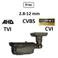 Κάμερα KTEC E200VG AHD/TVI/CVI/CVBS 1080p 2.8-12MM Γκρι Bullet