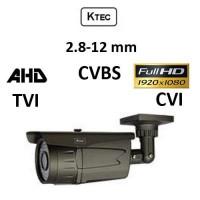 Κάμερα KTEC E200VG/72 AHD/TVI/CVI/CVBS 1080p 2.8-12MM Γκρι Bullet