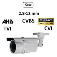 Κάμερα KTEC E200VW/72IR AHD/TVI/CVI/CVBS 1080p 2.8-12MM Λευκή Bullet