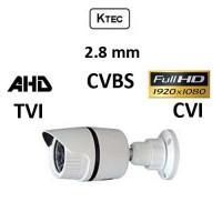 Κάμερα KTEC E200W/2.8mm AHD/TVI/CVI/CVBS 1080p Λευκή Bullet