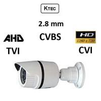 Κάμερα KTEC E720W/2.8 TVI/AHD/CVI/CVBS 720P 2.8MM λευκή Εξωτερική Bullet