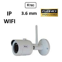 Κάμερα KTEC IP-E200 WIFI IP 1080P 3.6MM Λευκή Bullet