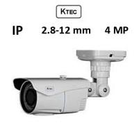 Κάμερα KTEC IP-E400 4MP 2.8-12mm Λευκή Bullet