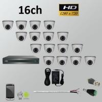 Σετ Σύστημα παρακολούθησης 16ch HD 720P AHD Dome