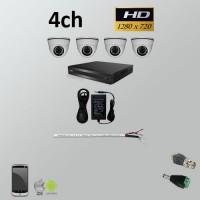Σετ Σύστημα παρακολούθησης 4ch HD 720P AHD Dome