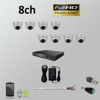 Σετ Σύστημα παρακολούθησης 8ch Full HD 1080P AHD Dome