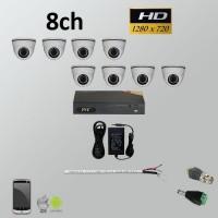 Σετ Σύστημα παρακολούθησης 8ch HD 720P AHD Dome