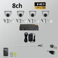 Σετ Σύστημα παρακολούθησης 8ch HD 720P AHD Bullet + Dome