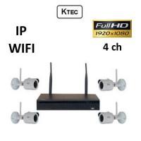 Σετ Σύστημα παρακολούθησης KTEC WIFI Κιτ 1080P 4ch IP