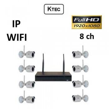 Σετ Σύστημα παρακολούθησης KTEC WIFI Κιτ 1080P 8ch IP