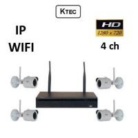Σετ Σύστημα παρακολούθησης KTEC WIFI Κιτ 720P 4ch IP