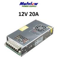 Τροφοδοτικό 12V 20A Mulview HS25012 μεταλλικό