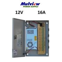 Τροφοδοτικό Mulview με κουτί 200-16 16ch 12V 16A