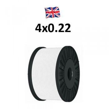 Καλώδιο συναγερμού 4X0.22 VK Cable UK type TCCA λευκό