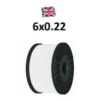 Καλώδιο συναγερμού 6X0.22 VK Cable TC UK type Copper λευκό