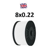 Καλώδιο συναγερμού 8X0.22 VK Cable UK type Copper λευκό