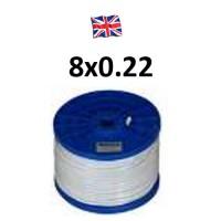 Καλώδιο συναγερμού 8X0.22 VK Cable UK type TCCA λευκό